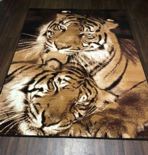 Modern Approx 8x5ft 160x230cm Woven Backed Tigers Design Quality rugs Bargains